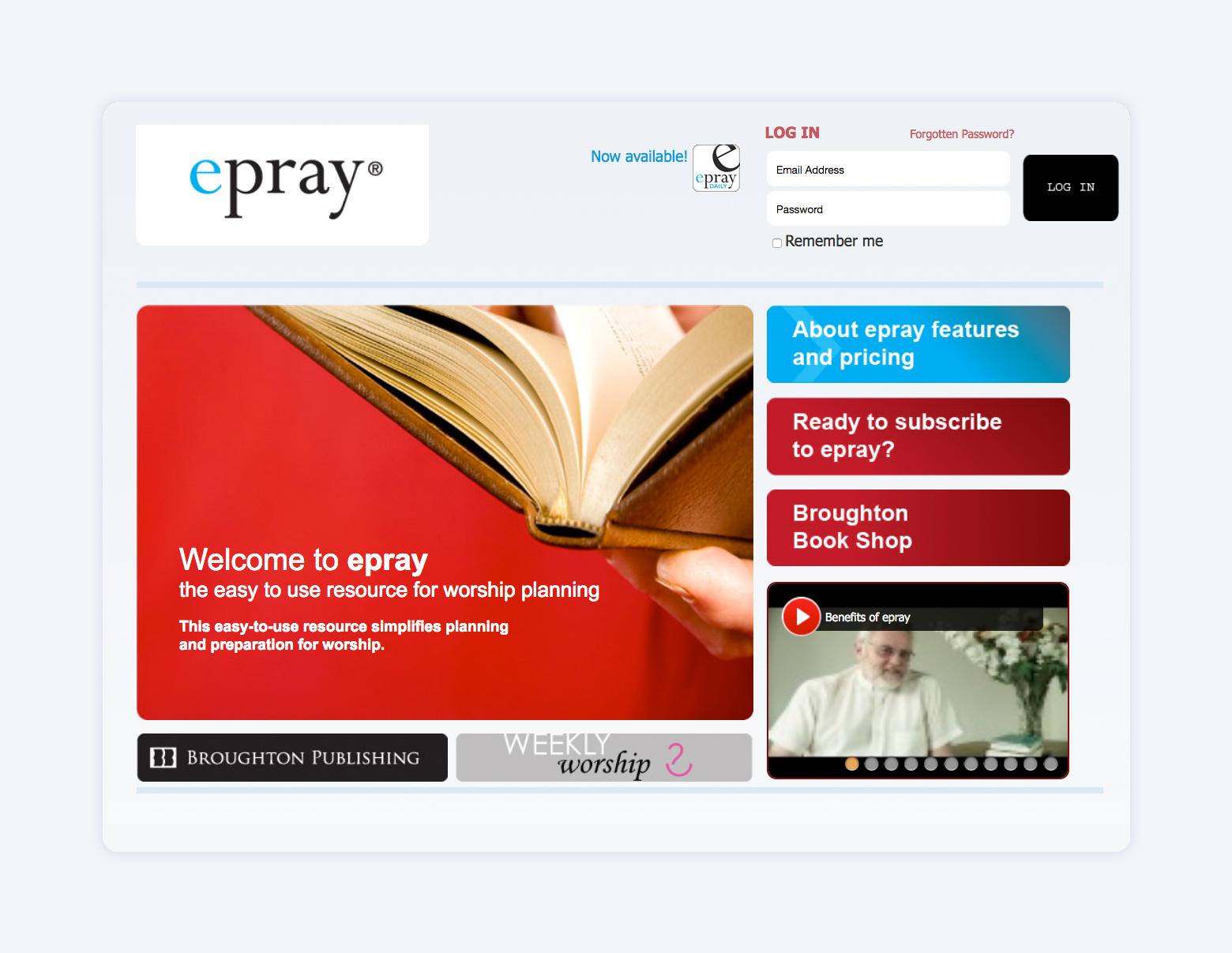 ePray: Online Service Creator