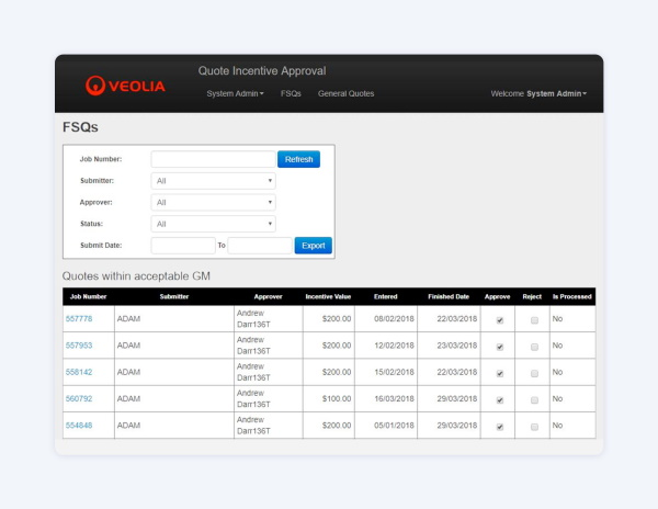 Veolia: Incentives & Asset Tracking
